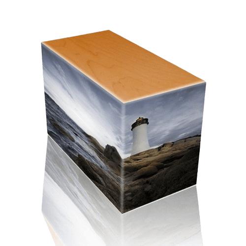 Lighthouse Oak Child Cremation Urn