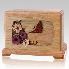 Butterfly Oak Hampton Cremation Urn
