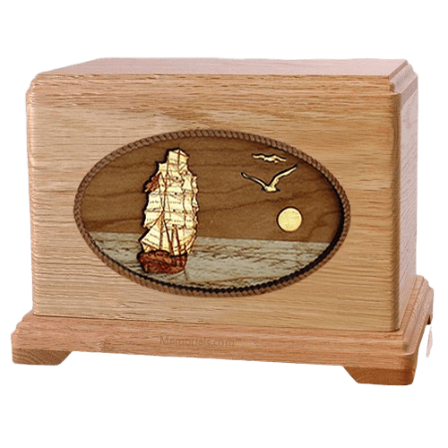 Sailing Home Oak Hampton Cremation Urn