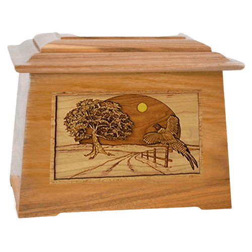 Pheasant Oak Aristocrat Cremation Urn