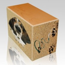 Sand Tracks Oak Pet Picture Urn III