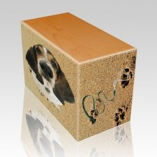 Sand Tracks Oak Pet Picture Urn II