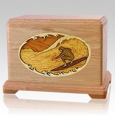 Surfer Oak Hampton Cremation Urn