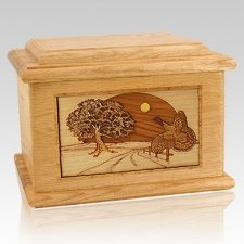 Turkey Oak Memory Chest Cremation Urn