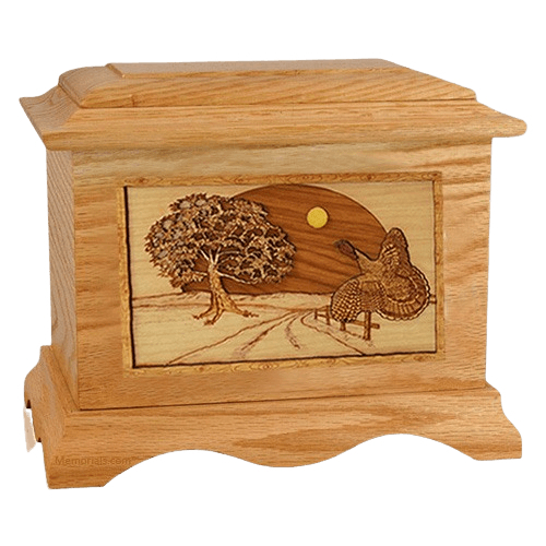 Turkey Oak Cremation Urn