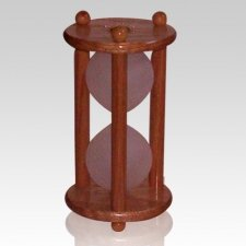 Hourglass Oak Keepsake Urn