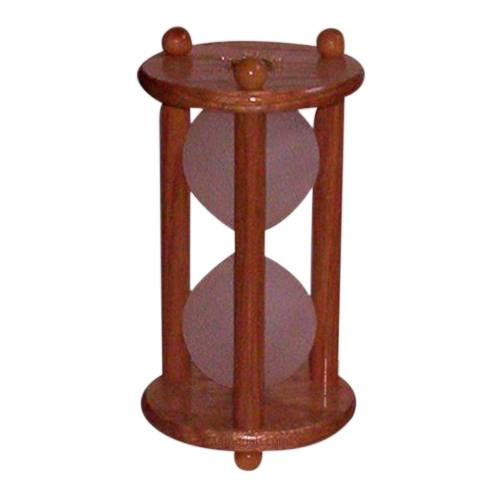 Hourglass Oak Pet Urn