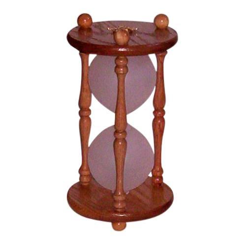 Hourglass Pillar Oak Pet Urn