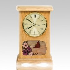 Clock Oak Cremation Urns