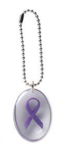 Purple Ribbon Stone on a Chain