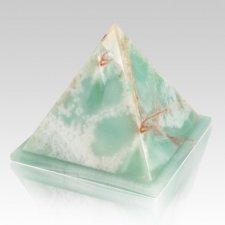 Pyramid Light Green Onyx Urns