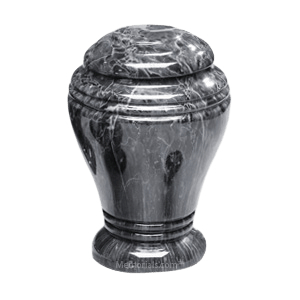 Midnight Onyx Marble Cremation Urn III