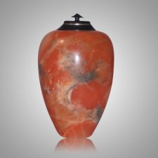 Dragon Orange Alabaster Cremation Urn