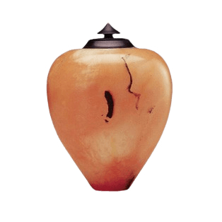 Life Orange Alabaster Cremation Urn