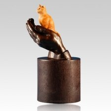 Orange Tabby Cat Cremation Urn