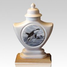 Orca Ceramic Cremation Urn