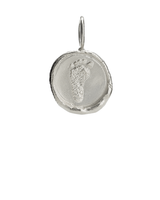 Organic Footprint Keepsake Pendants