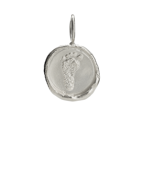 Organic Footprint White Gold Keepsake Pendant II