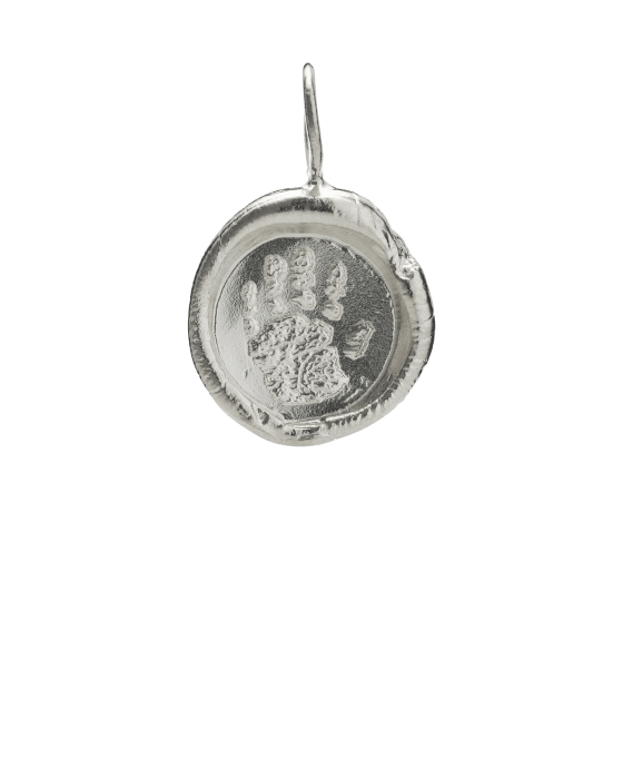 Organic Handprint Keepsake Pendants