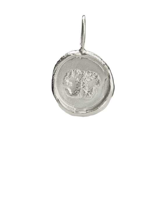 Organic Nose Print White Gold Keepsake Pendant