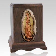 Lady of Guadalupe Walnut Companion Urn