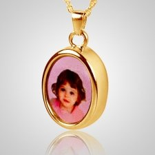 Oval Picture Cremation Pendant II