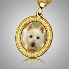 Dog Oval Picture Cremation Pendant II