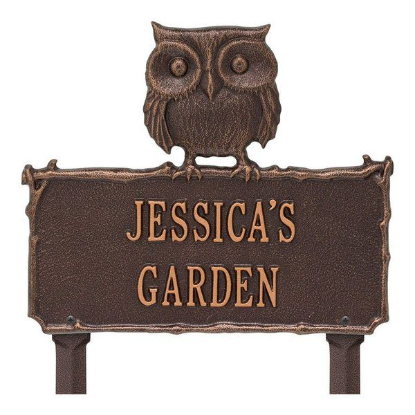 Owl Garden Copper Dedication Plaque