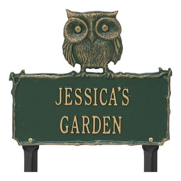 Owl Garden Green Dedication Plaque