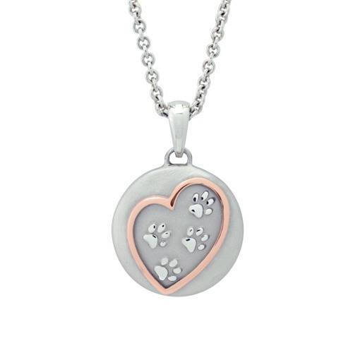 Paws In My Heart Rose Cremation Pendant