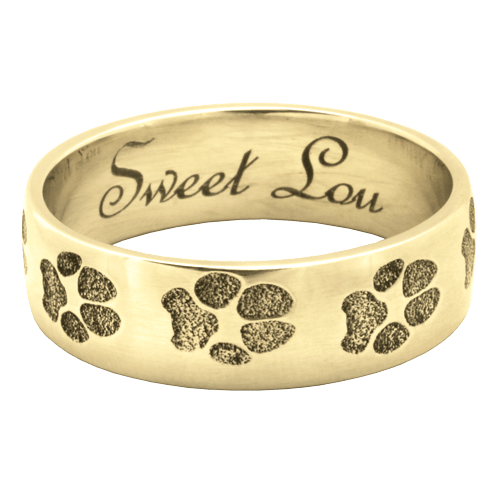 Paw Print 14K Gold Keepsake Ring