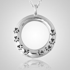 Paw Eternity Ring Cremation Pendant