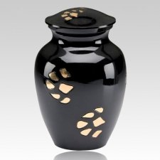 Black Paw Print Cremation Urn