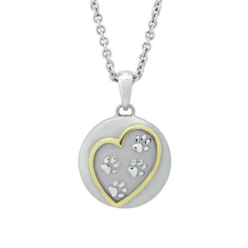 Paws In My Heart Gold Cremation Pendant