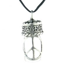 Peace Cremation Urn Necklace
