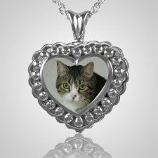 Pearl Photo Heart Cremation Jewelry III