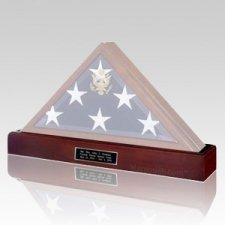 Flag Case Cherry Pedestal with Urn