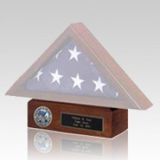Flag Case Walnut Pedestal