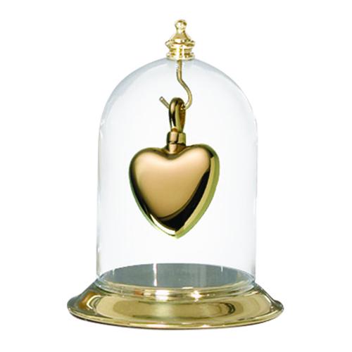Polished Brass Glass Display Dome