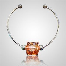 Lava Cube Bead Ash Bracelet