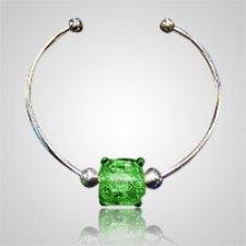 Emerald Cube Bead Ash Bracelet