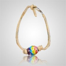 Rainbow Memory Bead Ash Bracelet