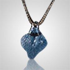 Celestial Blue Cremation Ash Pendant