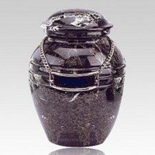 Black Pet Marble Urn