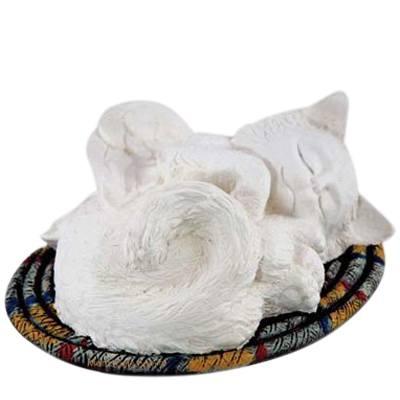 Cat on a Rug Cremation Urn