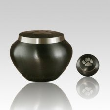 Paw Print Slate Medium Pet Urn