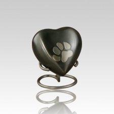 Paw Print Slate Heart Pet Urn