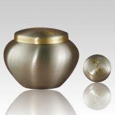Paw Print Bronze Large Pet Urn