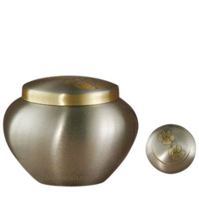 Paw Print Bronze Large Pet Urn