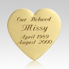 Heart Pet Urn Plaque
